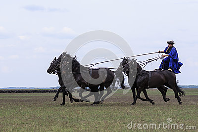 Hungarian Cowboys Editorial Photo