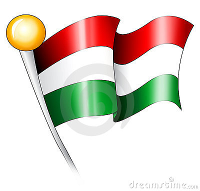 Hungarian Flag Illustration