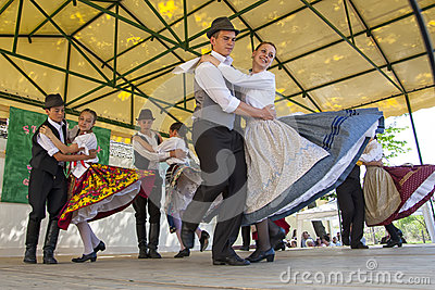 Hungarian Folk Dancing Editorial Image