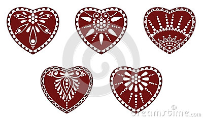 Hungarian folk heart ornament