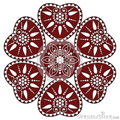 Hungarian folk ornament