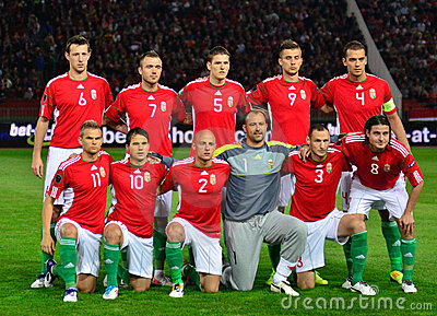 The Hungarian National Team Editorial Stock Photo