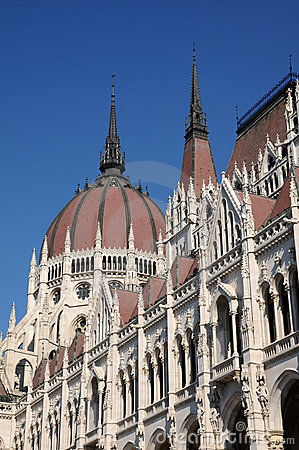 The Hungarian Parliament - dome roof