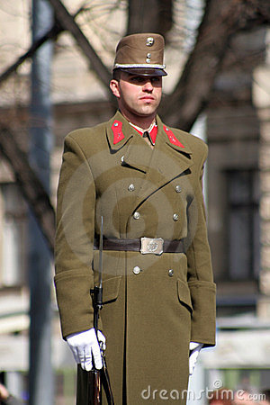 Hungarian solider in uniform Editorial Photography