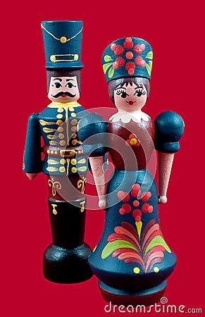 Hungarian Wooden Dolls