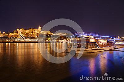 Hungary, Budapest, Castle Buda - night picture Stock Photo