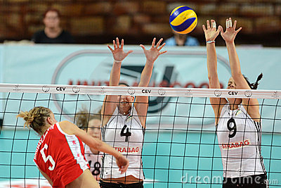 Hungary - Bulgaria volleyball game Editorial Image