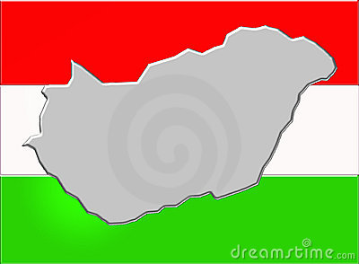 Hungary and flag