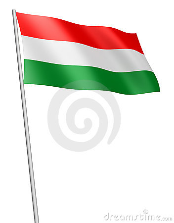 Hungary flag / isolated