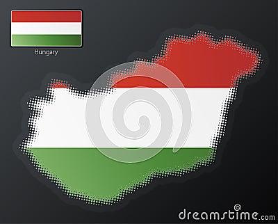 Hungary modern halftone