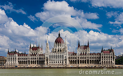 Hungary Parliament and Danube river, Budapest.