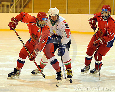 Hungary - Russia youth national ice-hockey match Editorial Photo