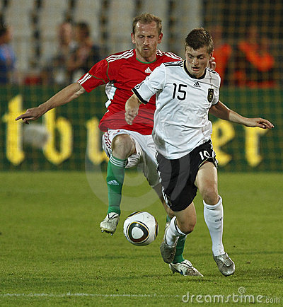Hungary vs Germany friendly football game Editorial Stock Image