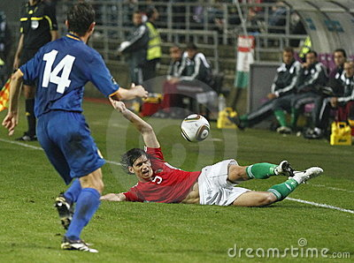 Hungary vs. Moldova UEFA Euro 2012 qualifying game Editorial Photo