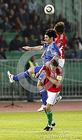 Hungary vs. San Marino 8-0 Editorial Stock Image