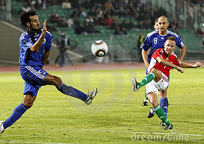 Hungary vs. San Marino 8-0 Editorial Stock Image