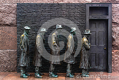 Hunger Sculpture of Breadline, Roosevelt memorial