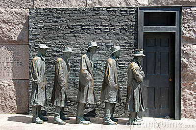 Hunger sculpture of Franklin Roosevelt Memorial Editorial Photography