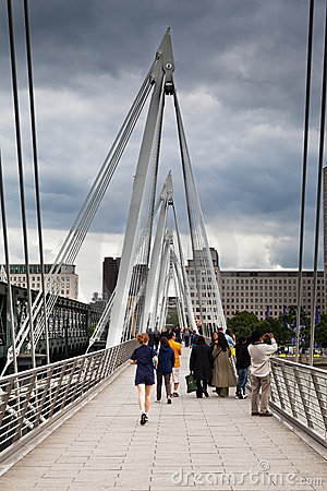 Hungerford Bridge London England Editorial Stock Photo