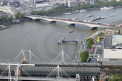 Hungerford & Waterloo Bridges. London. UK