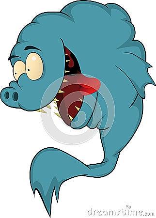 Hungrig fisk mycket