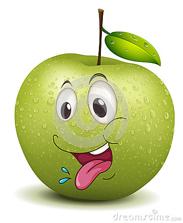 Hungry apple smiley