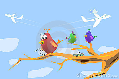 Hungry Bird Cartoon