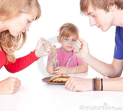 Hungry family
