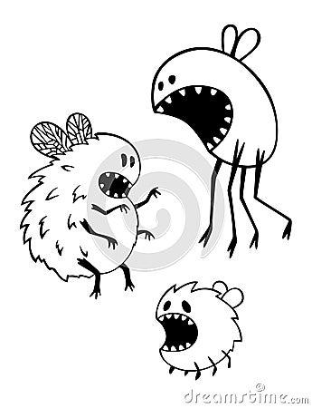 Hungry flies