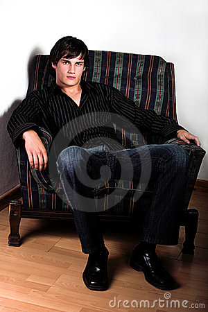 Free Hunk On Chair Royalty Free Stock Photo - 2048505