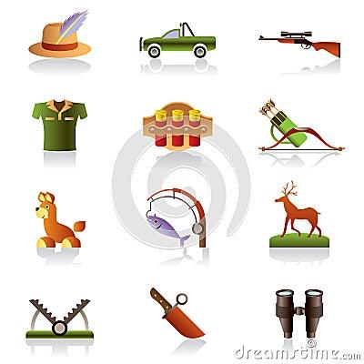 Hunter accessories and symbols