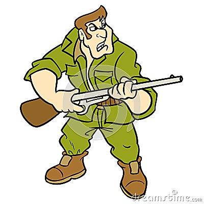 Hunter Cartoon Illustration Royalty Free Stock Photography - Image ...