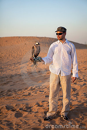 Hunter with a falcon