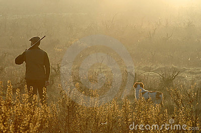 Hunter and his dog