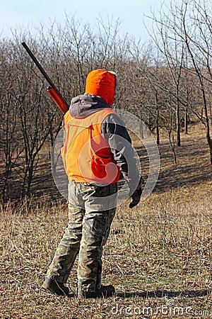 Free Hunter In Blaze Orange Royalty Free Stock Photos - 35844968
