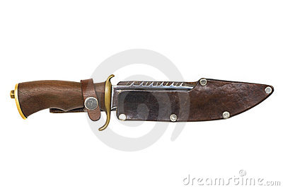 Hunter knife isolated