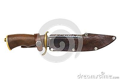 Hunter knife isolated