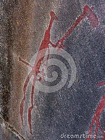 Hunter. Rock Carvings