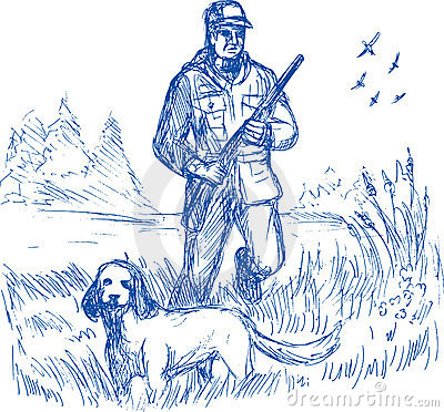 Hunter trained pointer gun dog