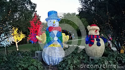 Hunter Valley Christmas Lights in Australia Editorial Stock Photo