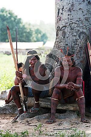 Free Hunters Krikati - Native Indians Of Brazil Stock Photography - 9852602