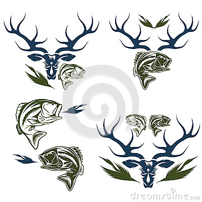 Free Hunting And Fishing Labels And Design Elements Stock Images - 60402684