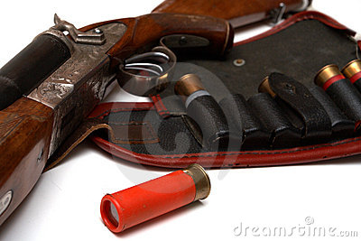 Hunting belt and the rifle