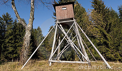 Hunting hut royalty free stock photography image 11363907 for Hunting hut plans