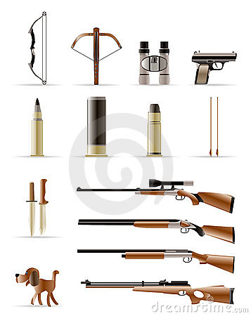 Free Hunting Icons Stock Photo - 10564520