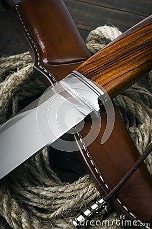 Free Hunting Knife Handmade Stock Image - 73309651