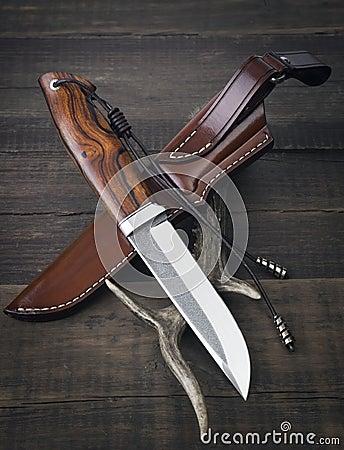 Free Hunting Knife Handmade Stock Image - 73888331