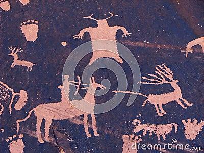 Hunting petroglyph