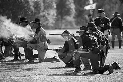 Huntington Beach Civil War Days 6 - Carbine Fire Editorial Image