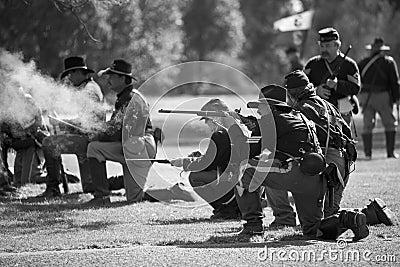 Huntington Beach Civil War Days 6 - Carbine Fire Editorial Image